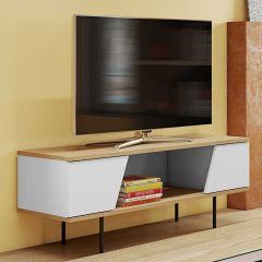 Tv-meubel Pixie - eik/wit