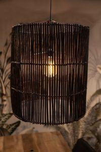 Hanglamp - ø50 cm - rotan - black wash