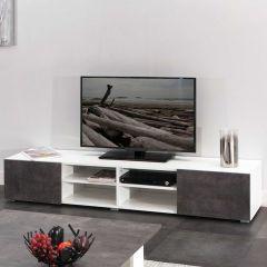 Tv-meubel Podium 185 cm - wit/beton