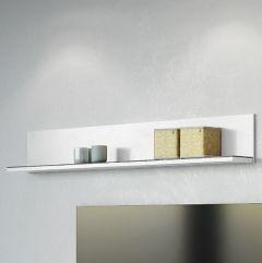 Wandplank Karsten 164cm - wit/marmer