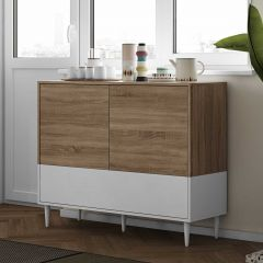 Dressoir Horizon - eik/wit