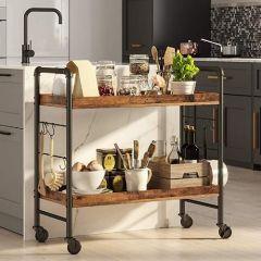Keukentrolley Florian - rustiek bruin/zwart