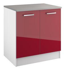 Onderkast Eli 80 cm met 2 deuren - rood