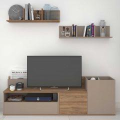 Tv-meubel Boost - bruin/grijs