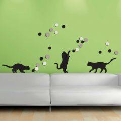 Stickers muraux 3D Fancy Cats - mousse
