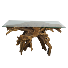 Table d'appoint Root 120x40 cm - Racine teck