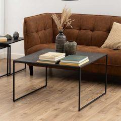 Table basse Inacio 80x80 - noir