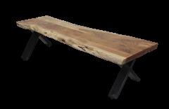 Eetbank SoHo - 160 cm - acacia / ijzer