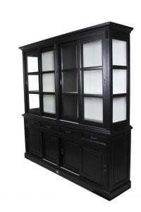 Buffetkast Provence - 220 cm - zwart / wit