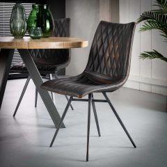 Set van 2 stoelen Vinnie - bruin