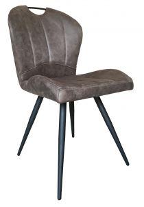 Chaise 'Fredo' Brun - Set de 2