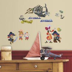 RoomMates muurstickers - Jake en de Nooitgedachtland Piraten