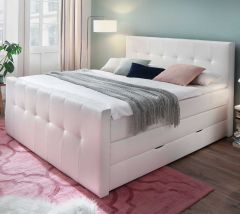 Boxspring Baras 180x200 - wit (H2+H3)