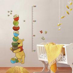 Muursticker groeimeter Winnie The Pooh