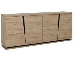 Dressoir Split 220cm met 4 deuren - artisan eik