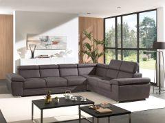 Canapé d'angle Carl - gris foncé