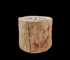 Kaarsenhouder small - ø10 cm - oud teak