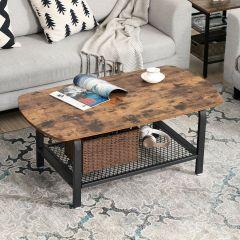 Table basse Maxence 110x60 - brun/noir