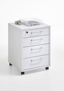 Caisson à tiroirs Gabi - blanc brillant