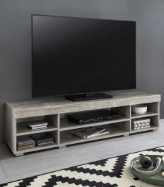 Tv-meubel Flint 140cm - wit/beton
