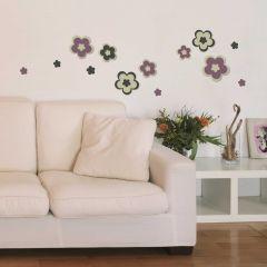 Stickers muraux 3D Flowers - mousse