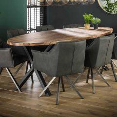 Table à manger ovale Dahlia 270cm - noyer