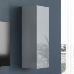 Wandkast Mussa - grafiet/zilvergrijs