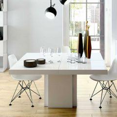 Eettafel Dusk 130x130 - wit