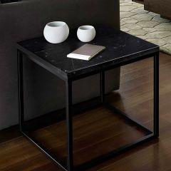 Bijzettafel Prairie - zwart marmer/staal