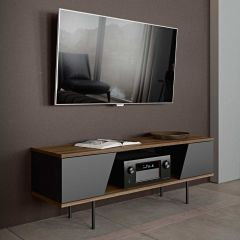 Tv-meubel Pixie 140cm - walnoot/zwart
