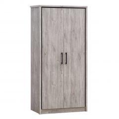 Garde-robe Sela 100cm avec 2 portes - chêne gris