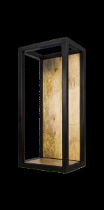 Wandbox Levels - 25x55 cm - mangohout / ijzer