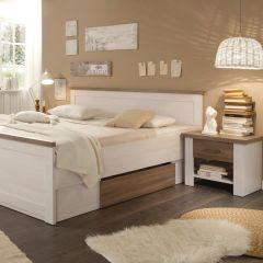 Bed Larnaca 180x200cm met 2 schuiflades & 2 nachtkastjes - wit