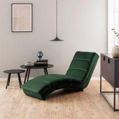 Chaise longue Slick - bosgroen