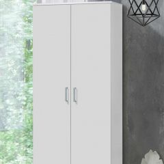 Armoire à vêtements Darcis 80cm à 2 portes - blanc