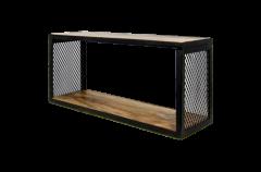 Wandplank Brixton - 64x30 cm - mangohout / ijzer