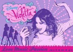 Tapis Violetta - Love music