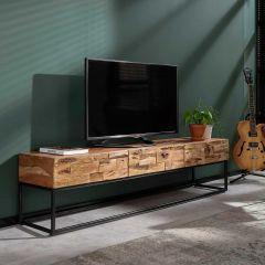 Tv-meubel Addison 3 lades - gezandstraald acacia