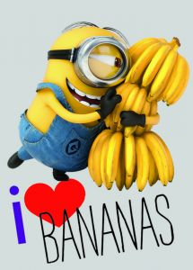 Tapijt Minions Love Bananas