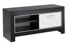 Tv-meubel Modena 112 cm - zwart/wit