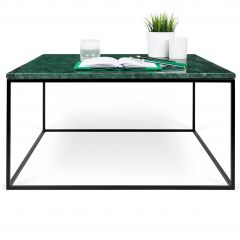 Salontafel Gleam 75x75 - groen marmer/staal