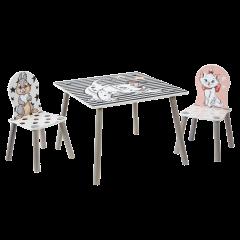Table et 2 chaises Les 101 Dalmatiens