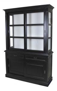 Buffetkast Provence - 150 cm - zwart / wit