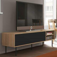 Tv-meubel Watt 165cm - eik/zwart