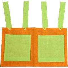 Opbergzak groen/oranje