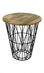 Table d'appoint Tower - naturel / noir