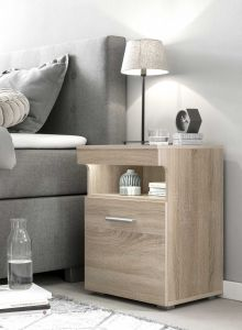 Table de chevet Bedside 1 porte - chêne