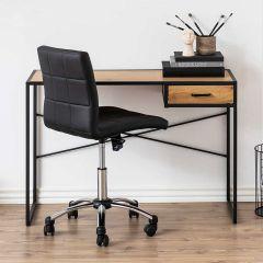 Sidetable/bureau Dover 110cm 1 lade - zwart/wilde eik