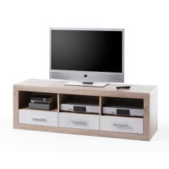 Tv-meubel Brekalo 147cm - sonoma eik/wit