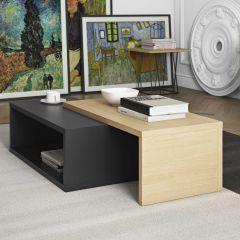 Table basse Jazzy - noir/chêne